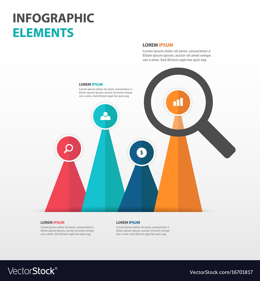 Abstract business infographics elements