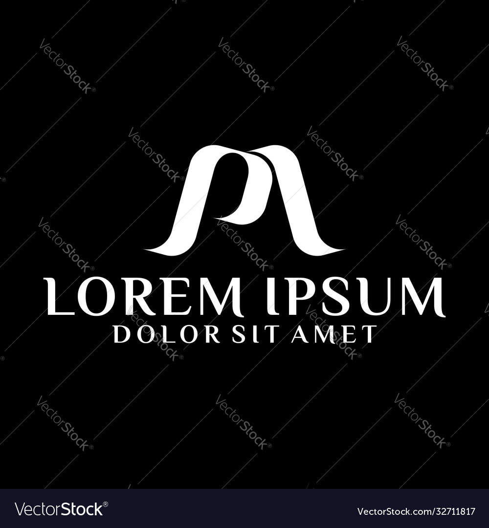 Initial letter pm logo template with classic icon