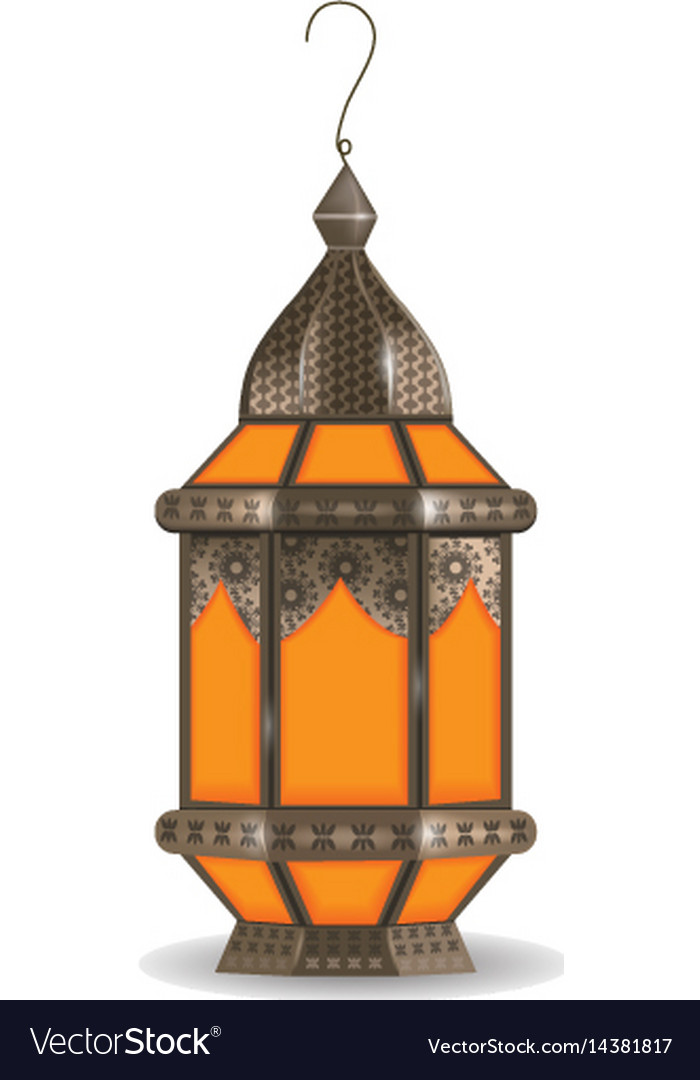 Ramadan kareem realistic 3d lantern isolated on