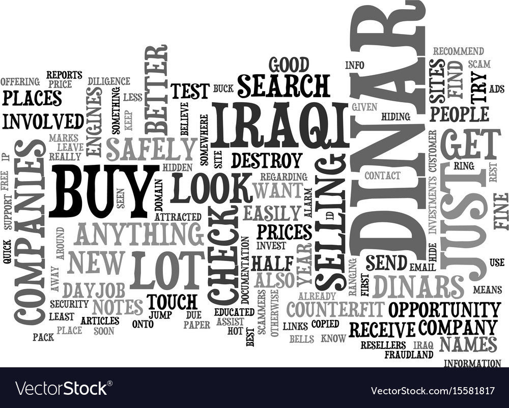 Where can you buy the dinar safely text word