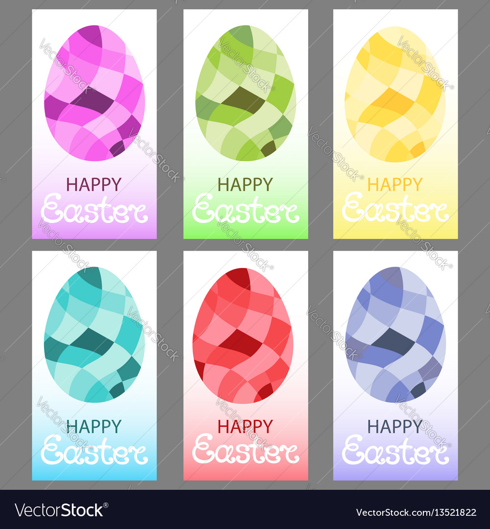 Easter eggs in a polygonal style
