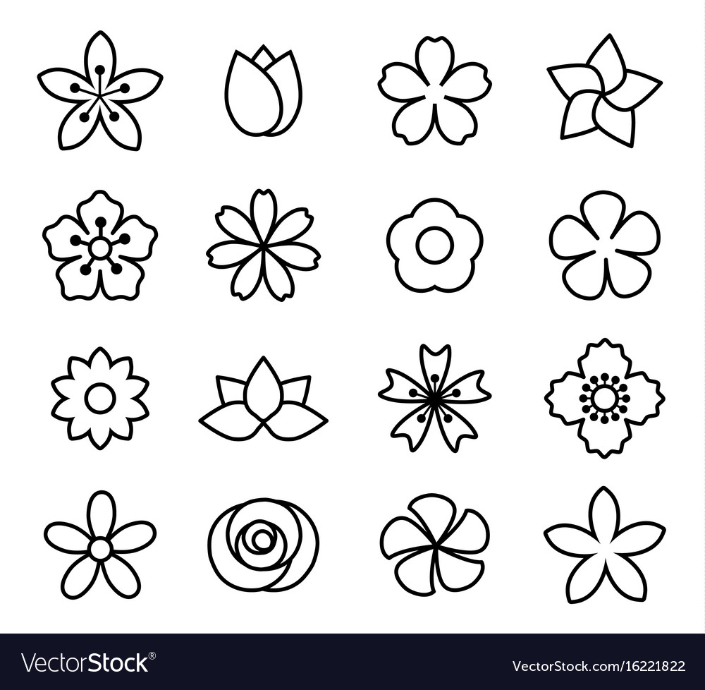 Flower icons set1