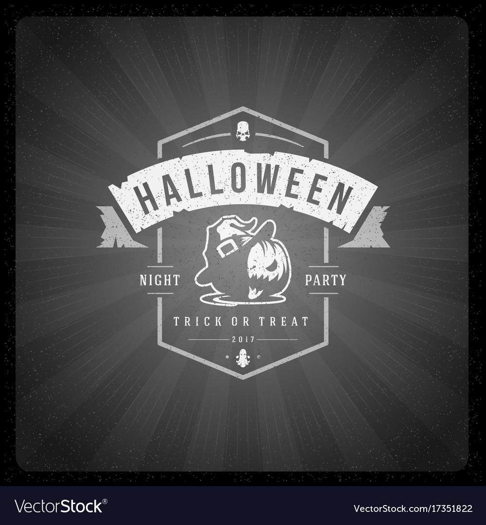 Halloween on movie ending vector image on VectorStock