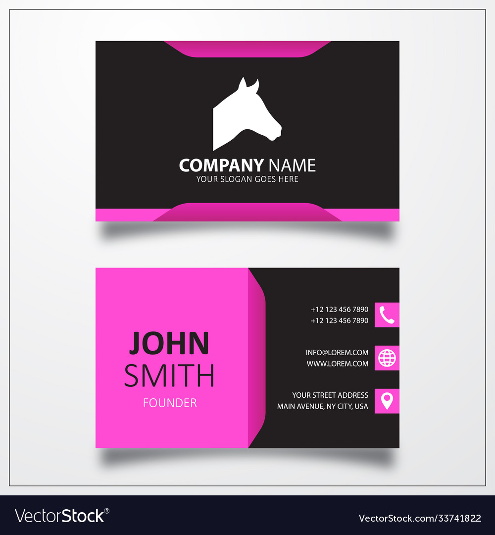 Horse icon for web and mobile business card