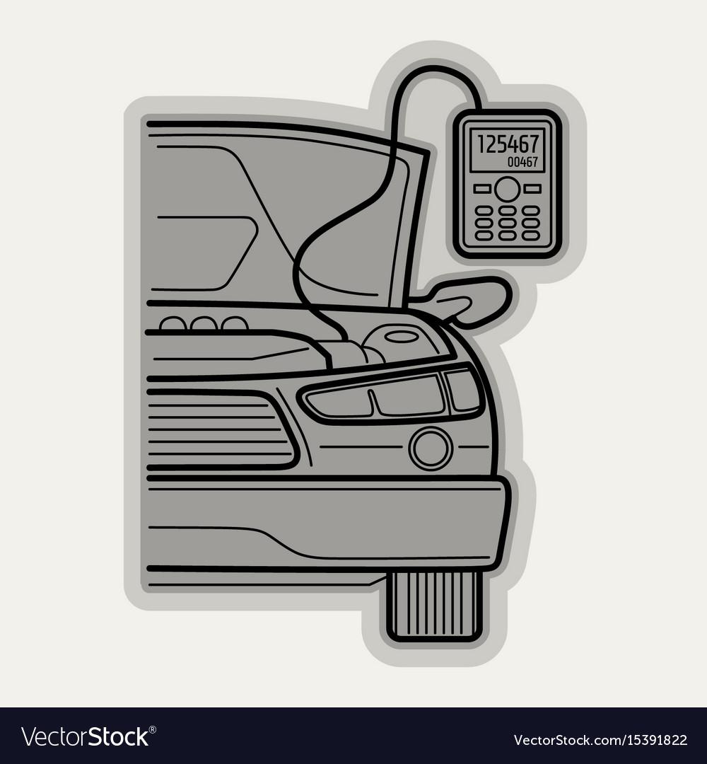 line flat icon car parts royalty free vector image rh vectorstock com