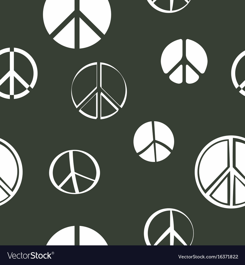 Seamless pattern with peace symbols