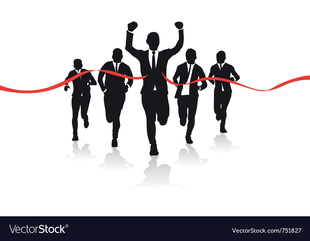 Business runners vector image