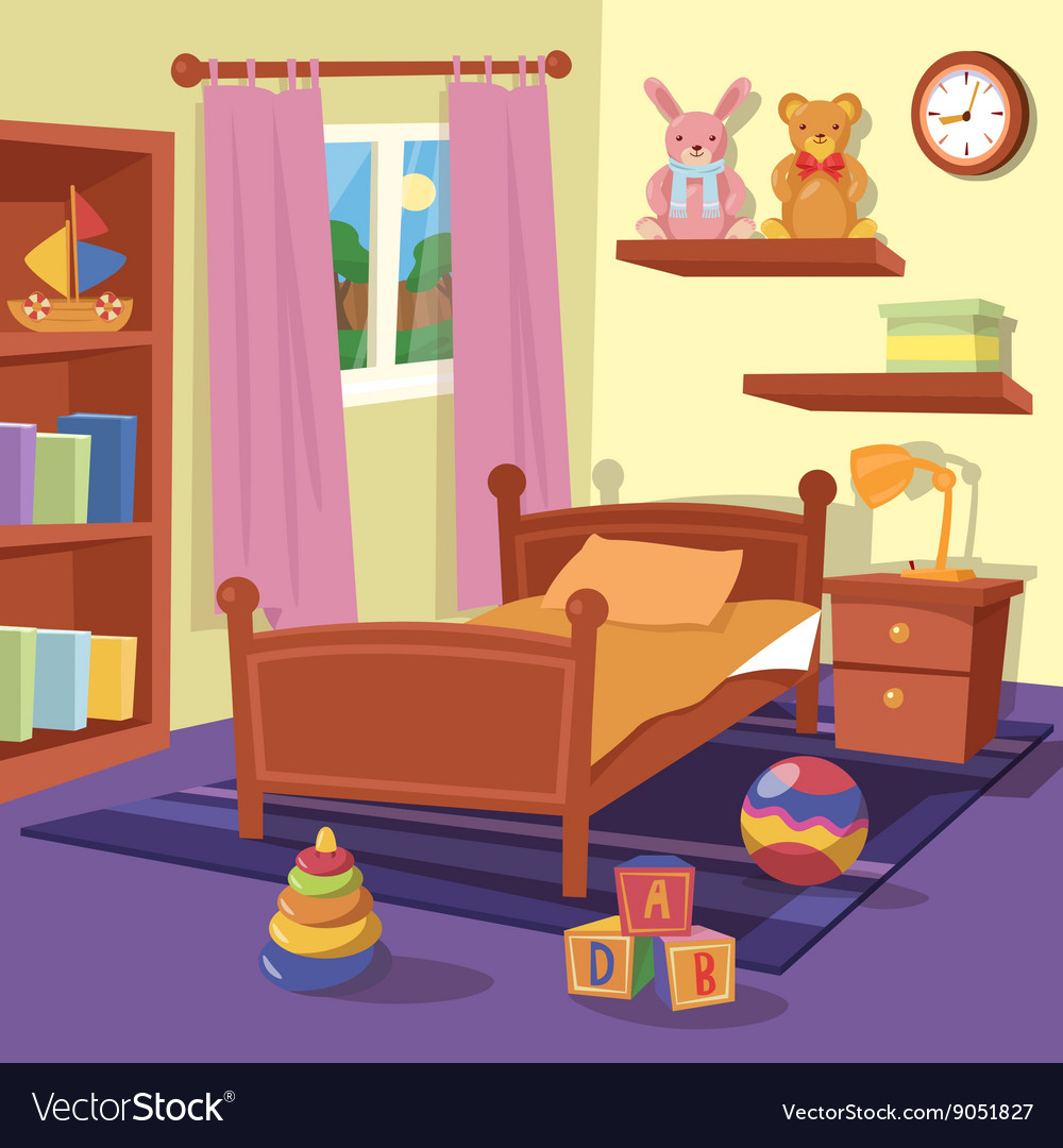 Children Bedroom Interior Children Room Royalty Free Vector