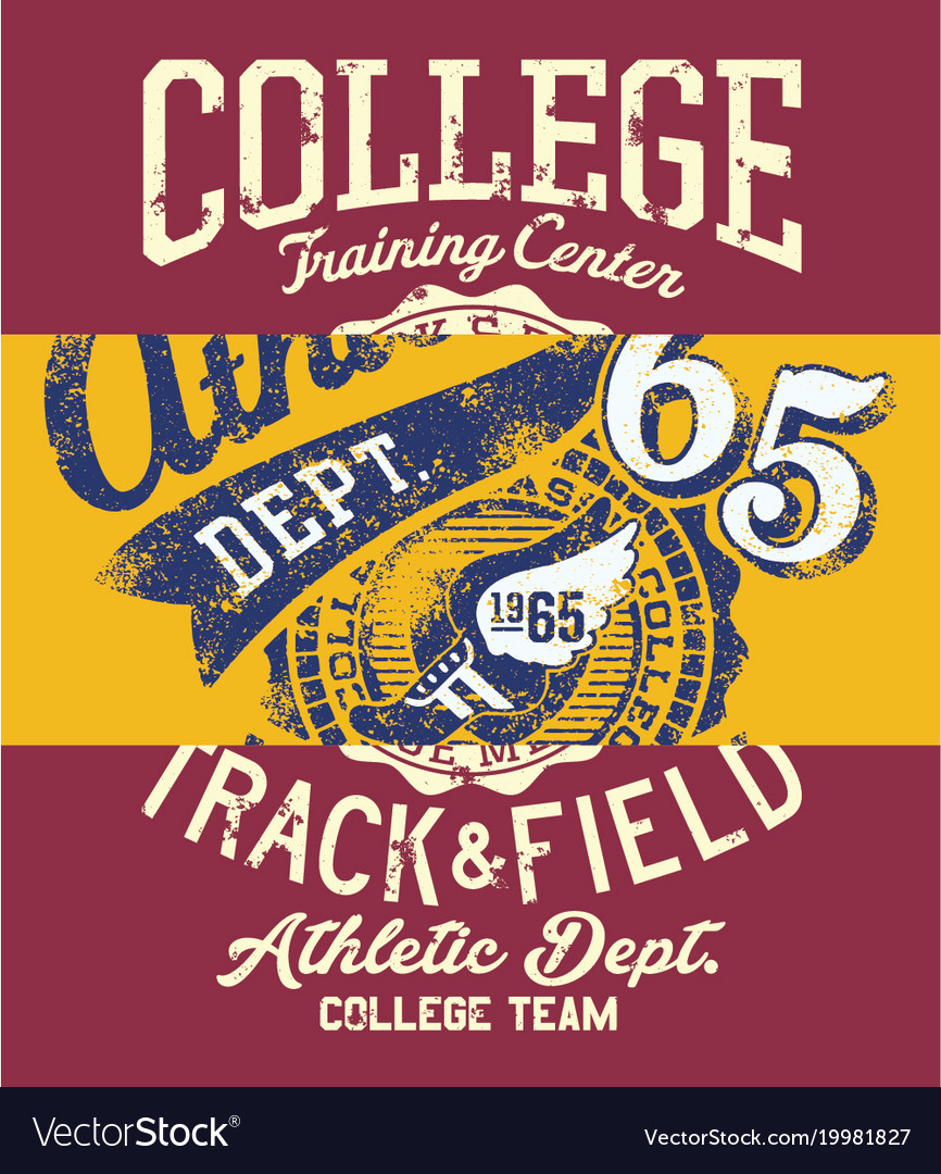 College track and field athletic