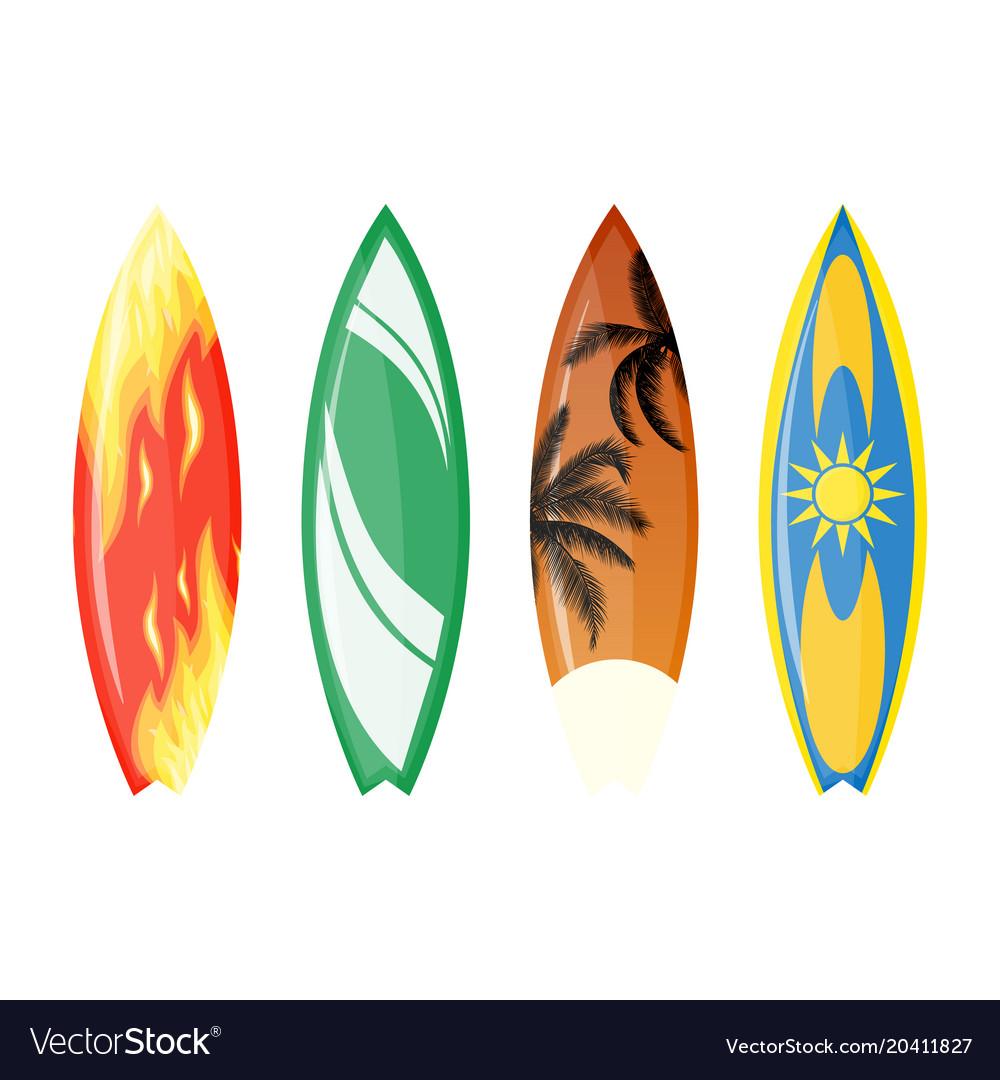 Color surfboard set