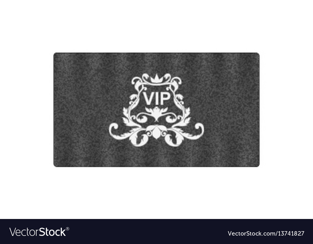 Elegant grey business card with victorian ornament