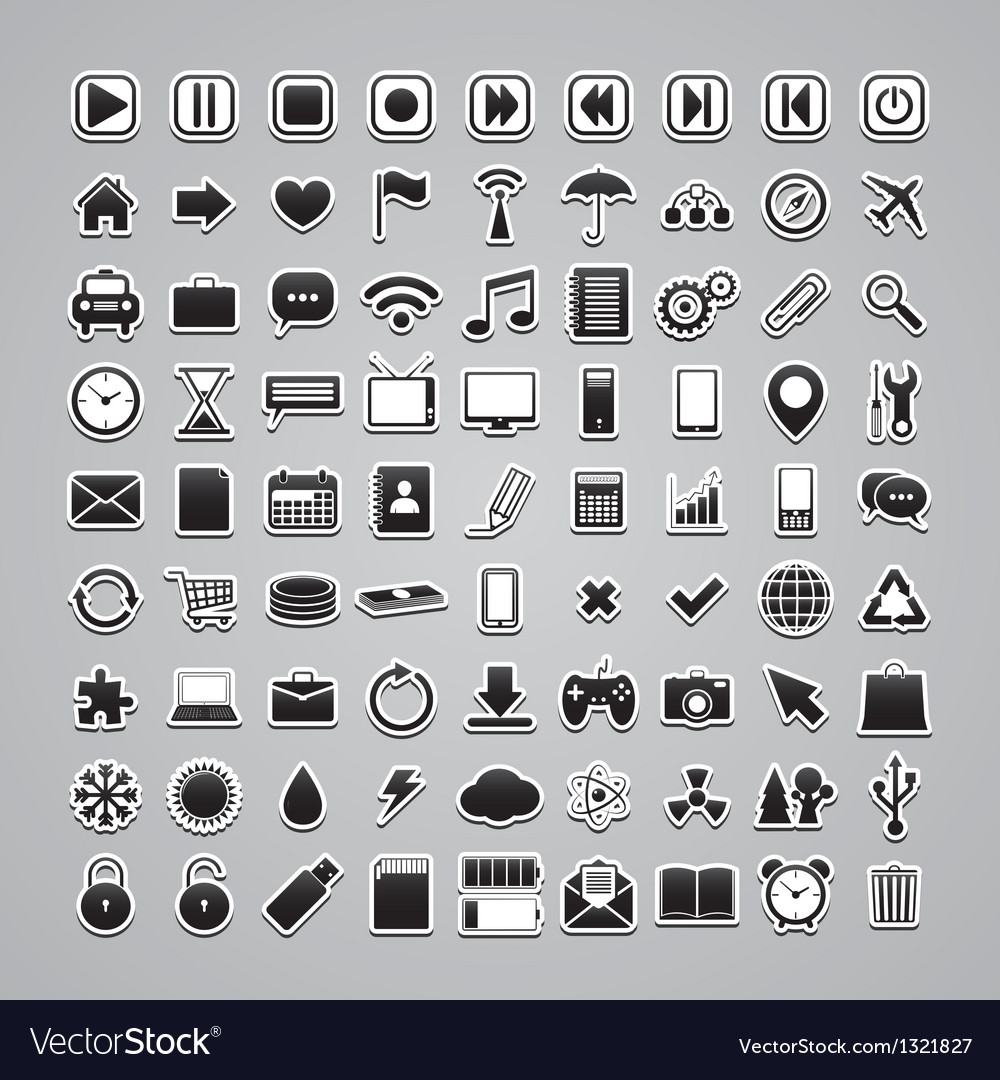 Icons-stickers vector image
