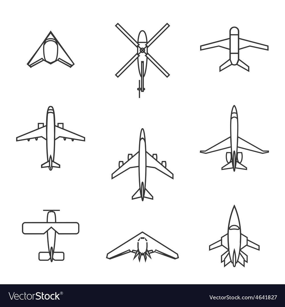 Line aircraft set