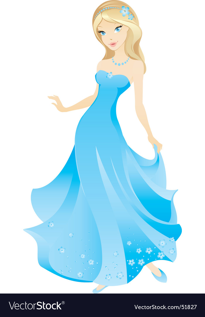 Princess blue vector