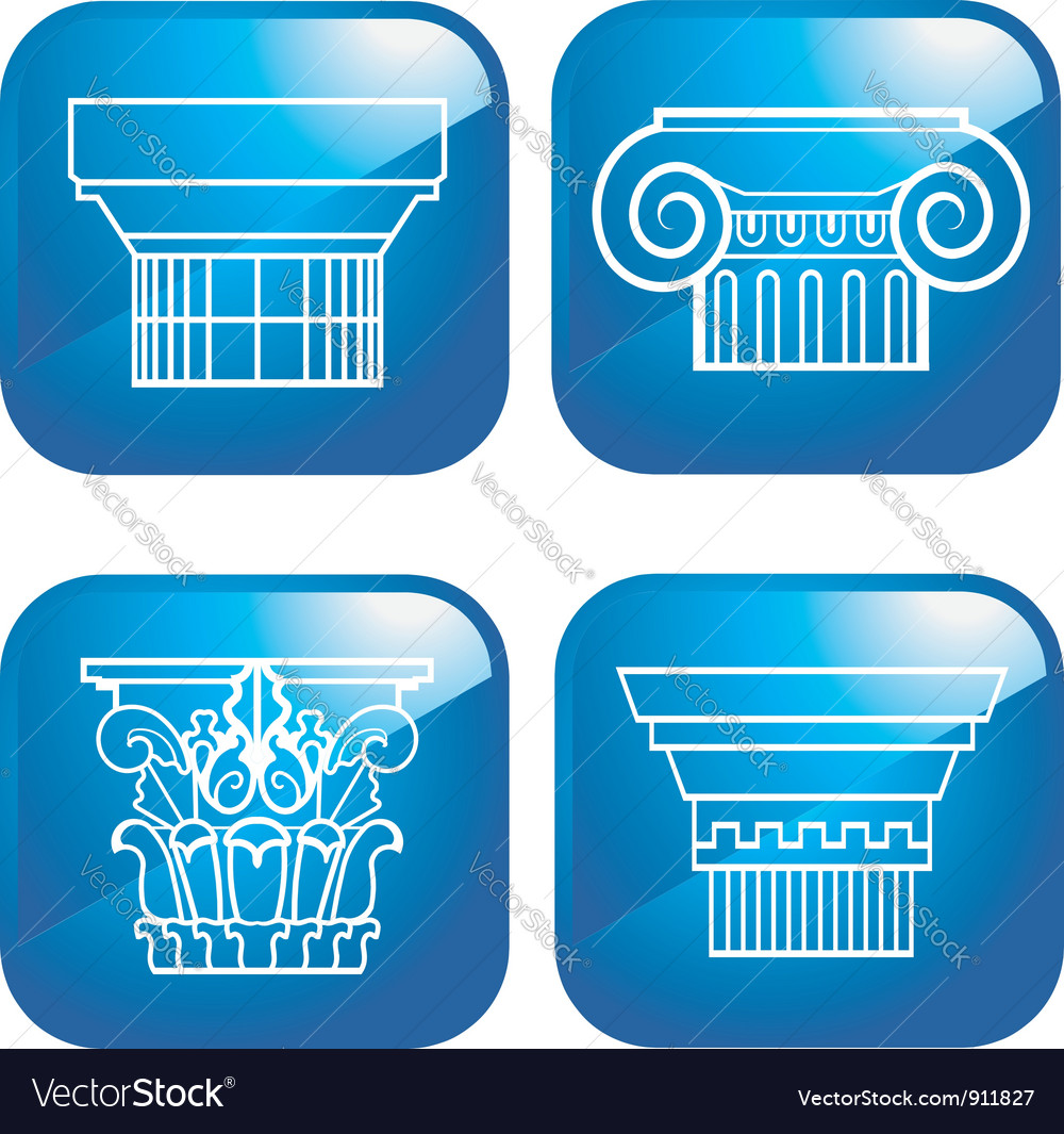 Set of 4 Columns vector image