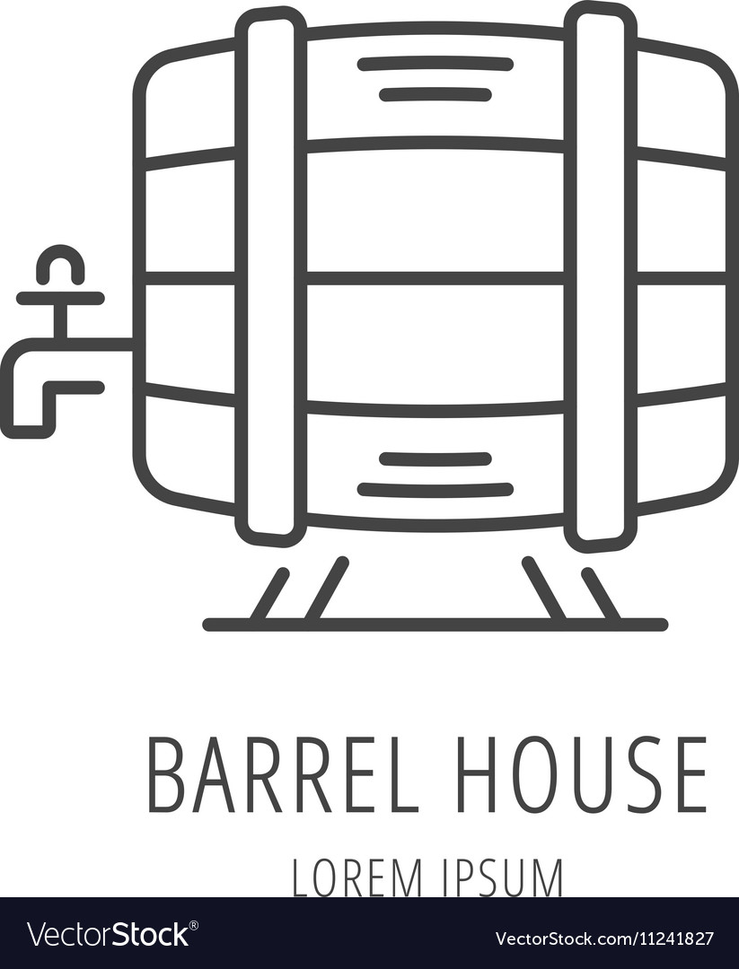 Simple Logo Template Barrel House
