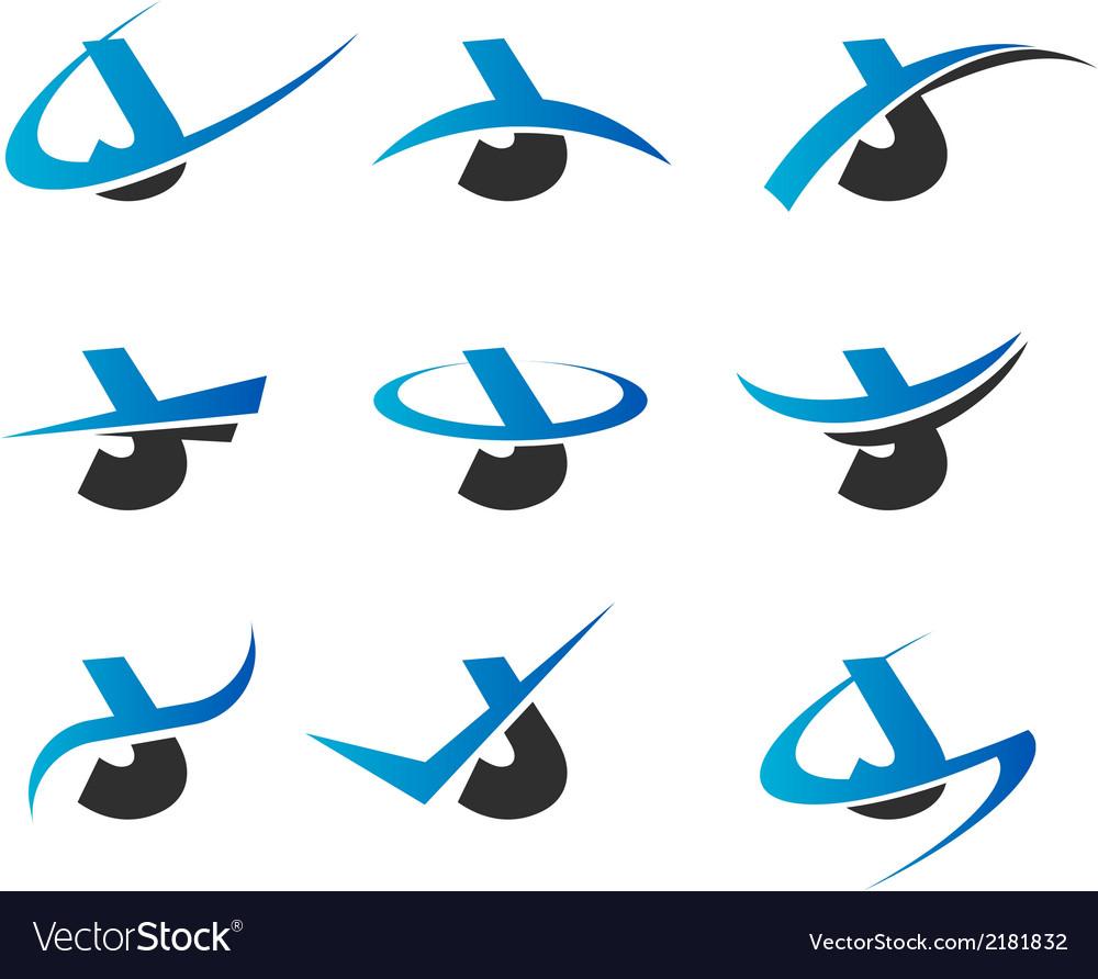 Alphabet J Logo Icons vector image