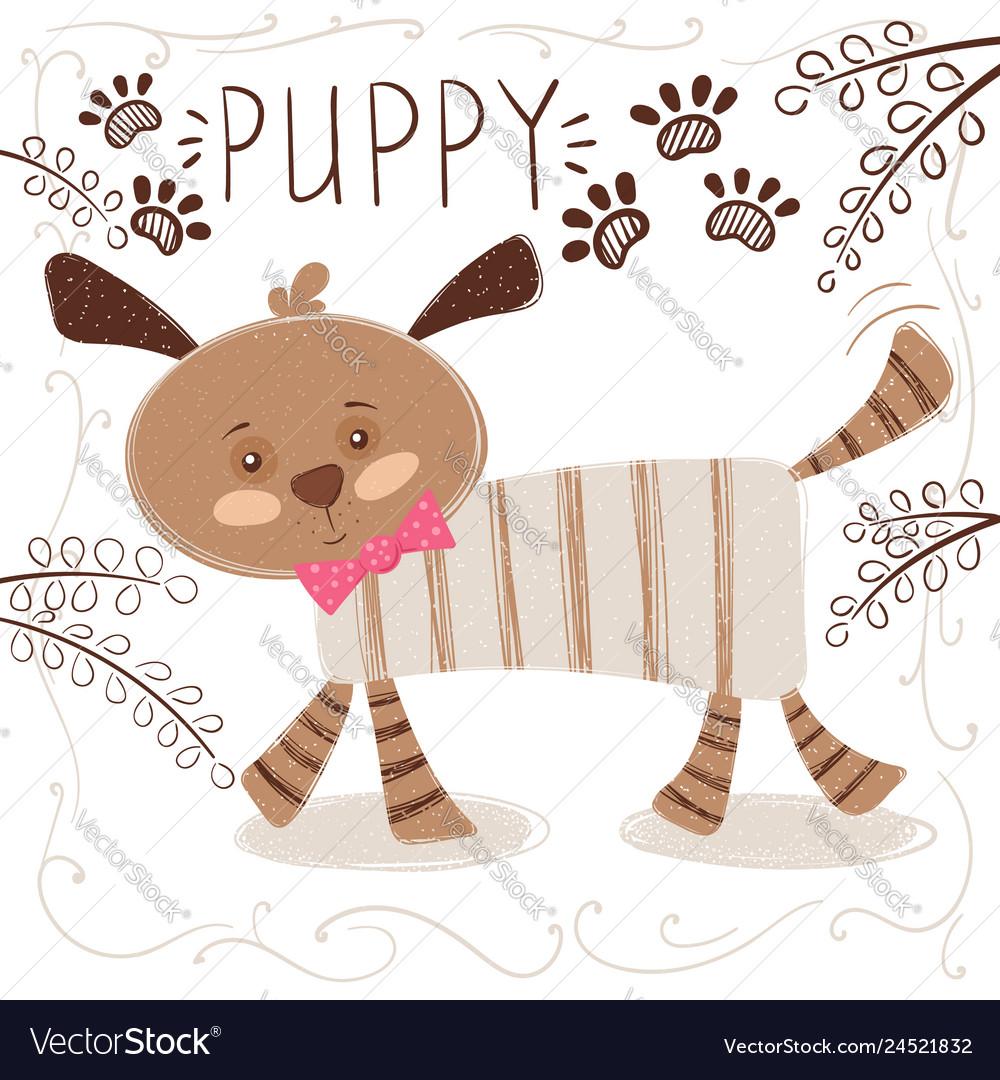 Cute funny dog - cartoon