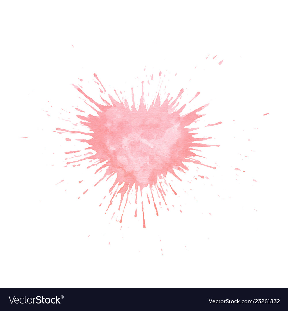 Hand painted watercolor heart splash texture