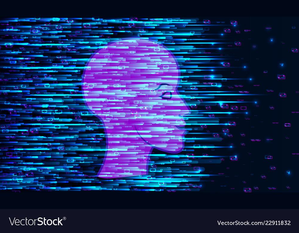 Human big data visualization futuristic