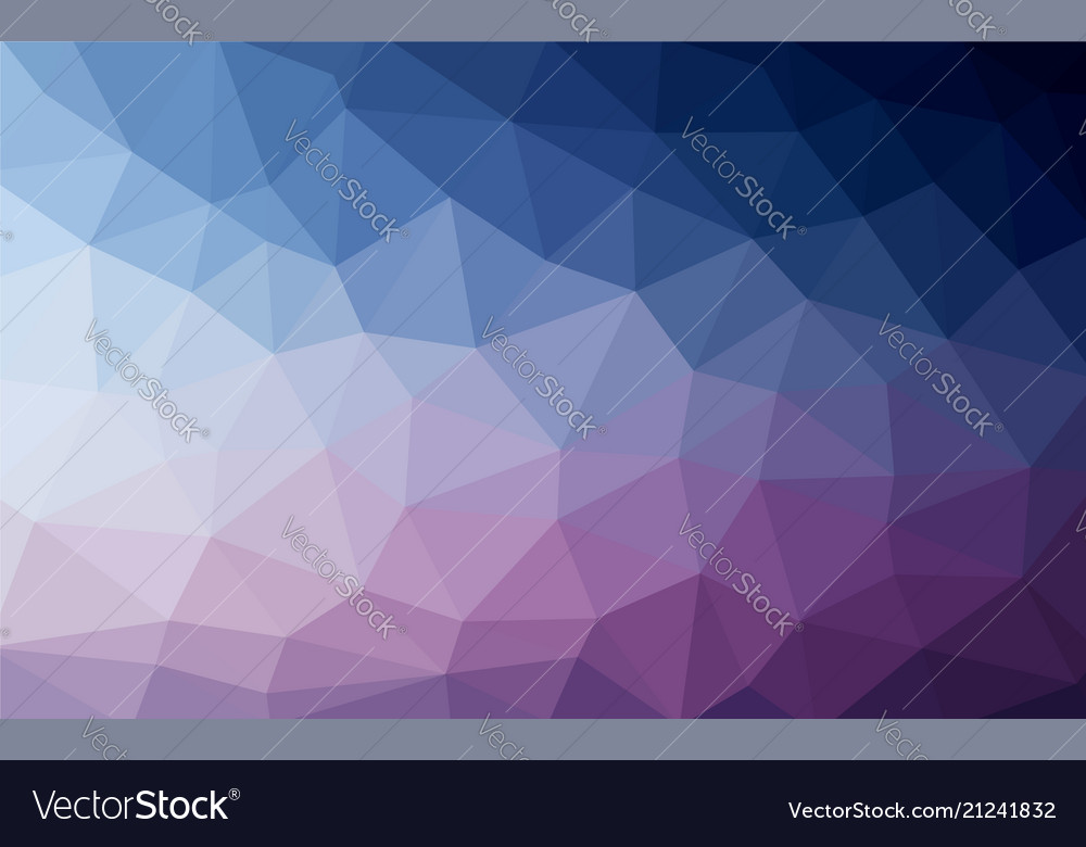 Light blue purple low poly crystal background