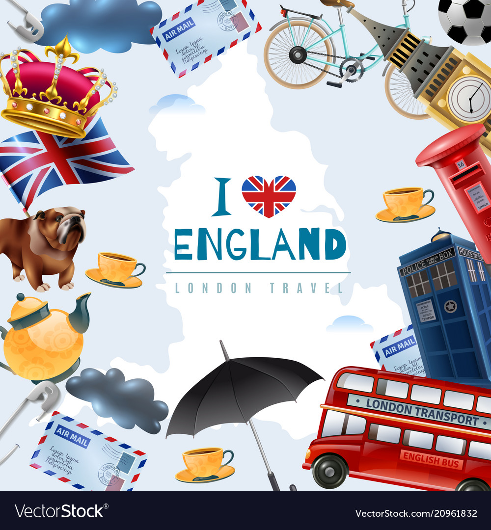 Love england travel background