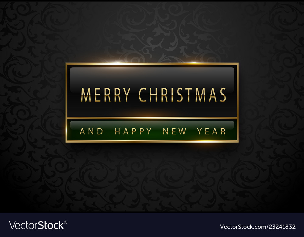 966b62935d Merry chistmas and happy new year banner premium Vector Image