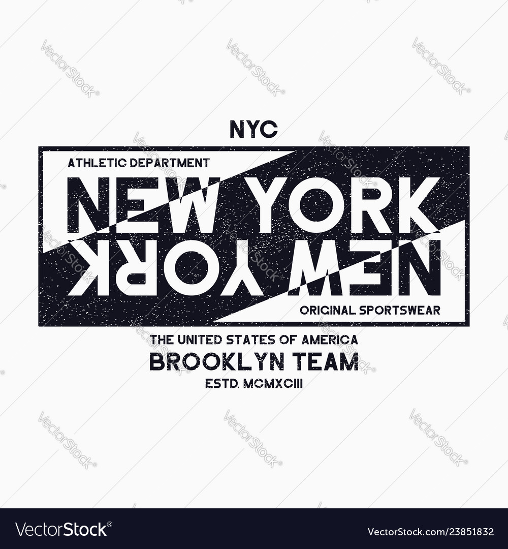 New york city brooklyn typography graphics for