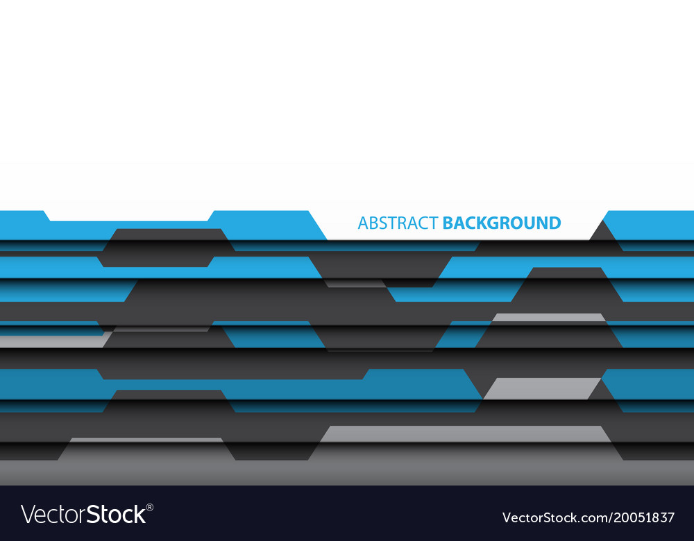 Abstract blue gray polygon white design vector image