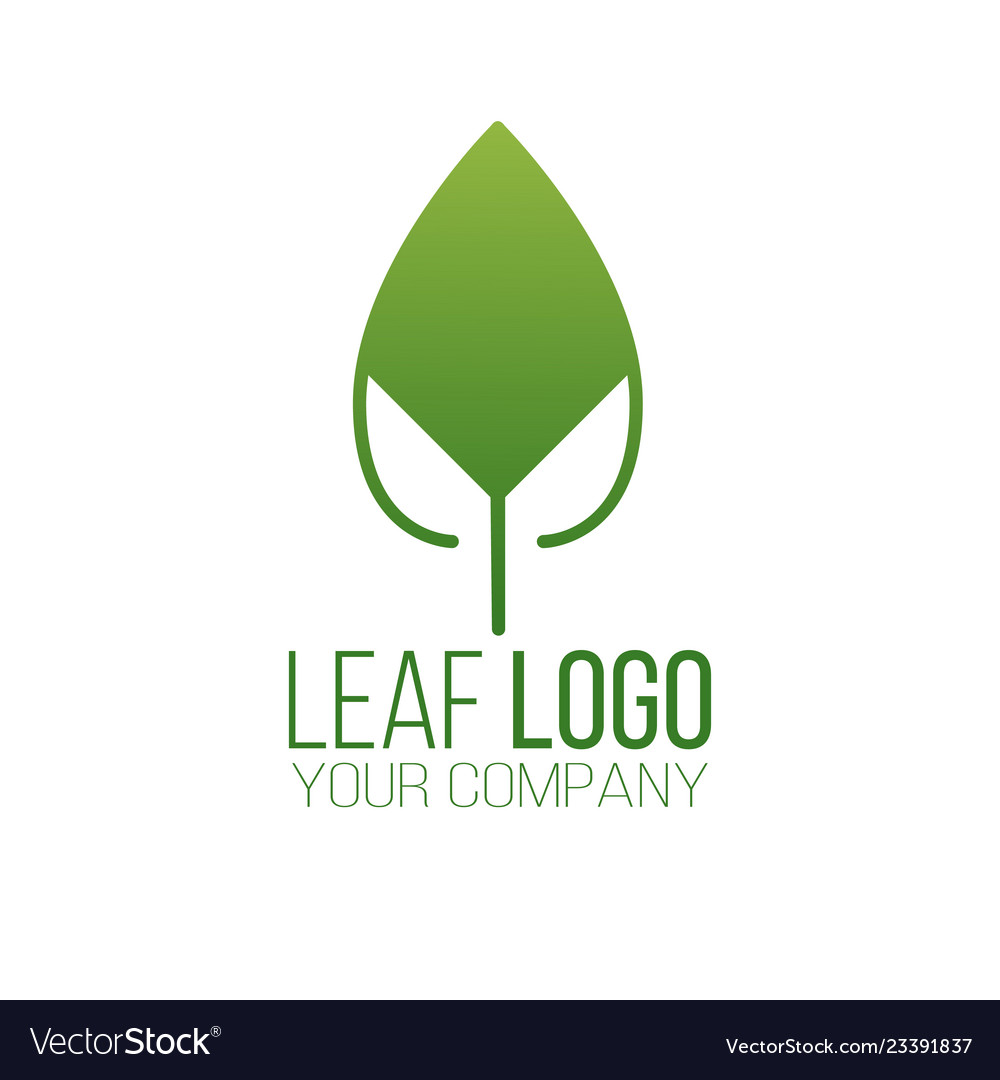 Abstract green leaf logo icon design landscape