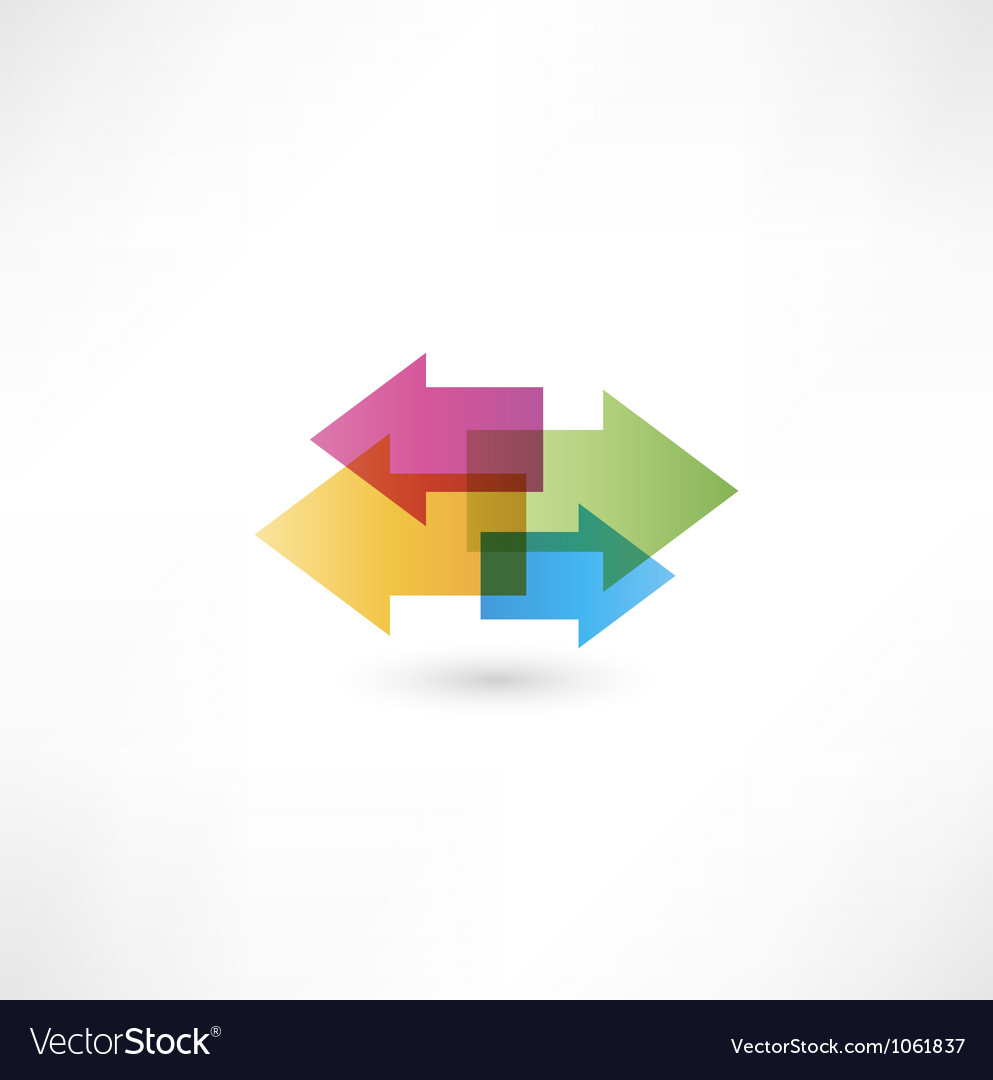 Arrow objects vector image