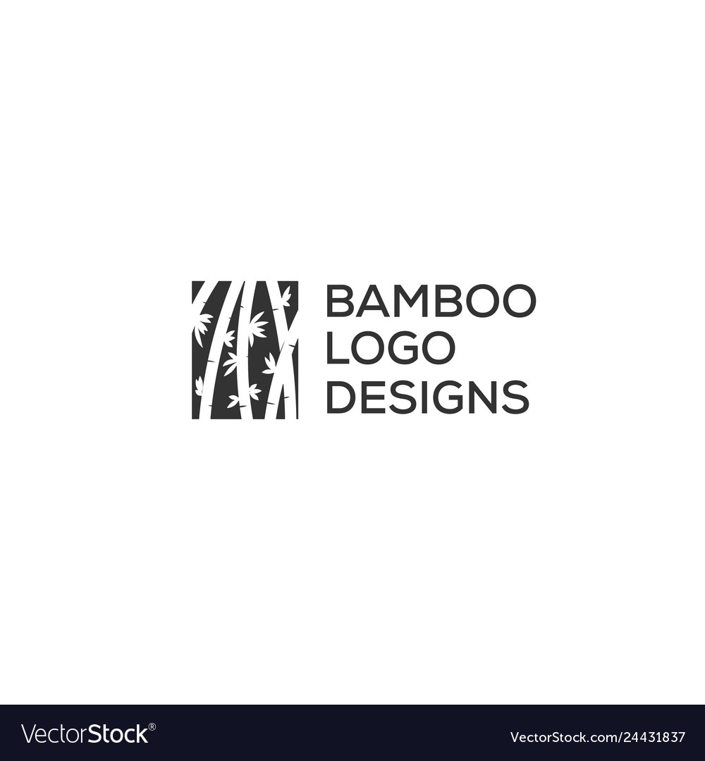 Bamboo logo designs inspiration in negative space