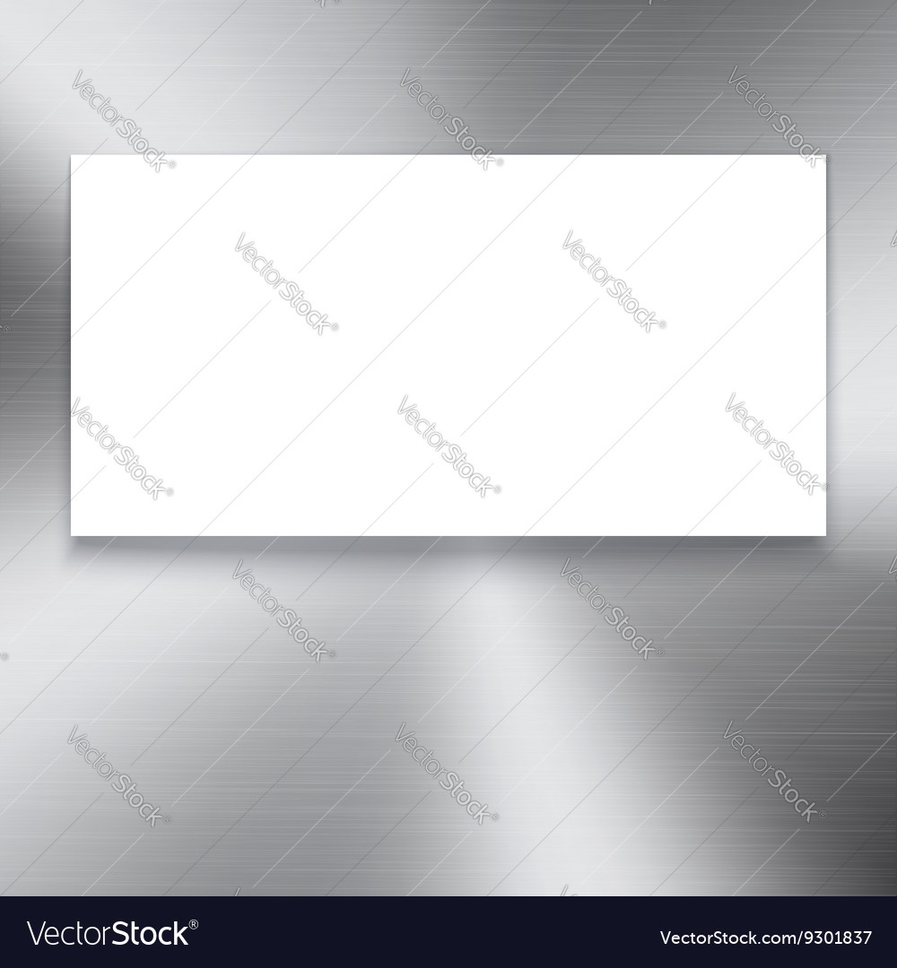 Banner on polished metal texture vector image