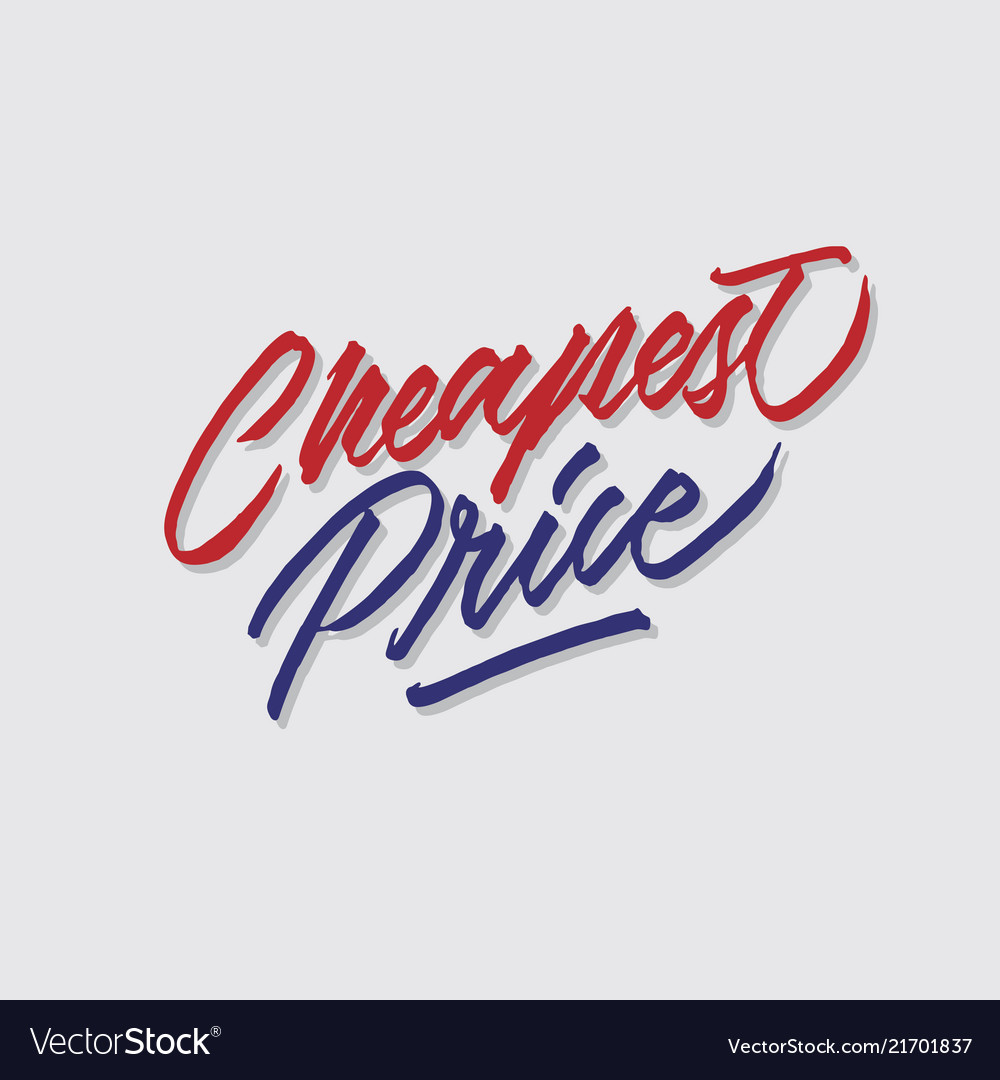 Cheapest price hand lettering typography
