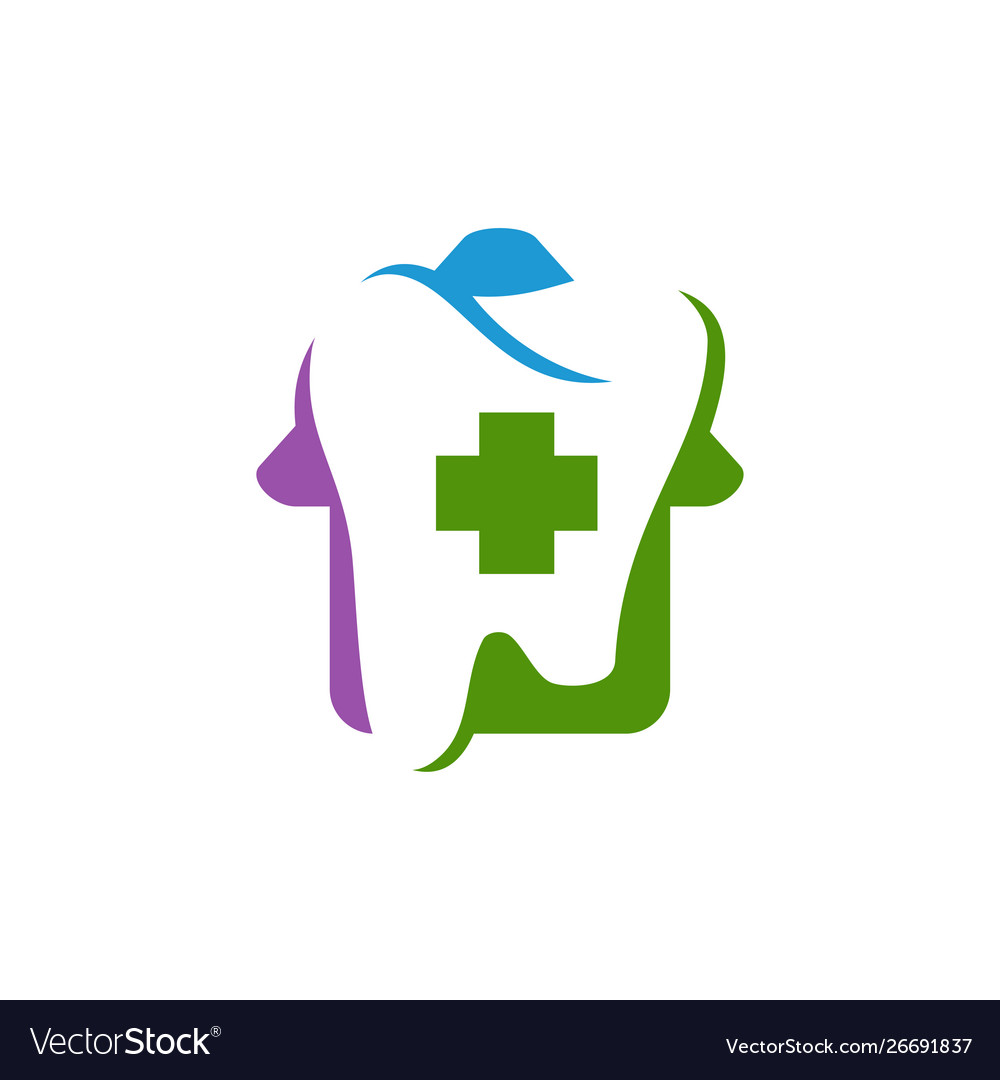 Dental clinic logo tooth abstract design template