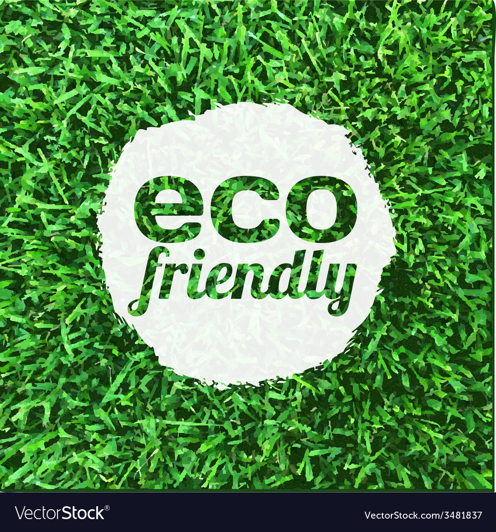Eco Friendly Banner vector image