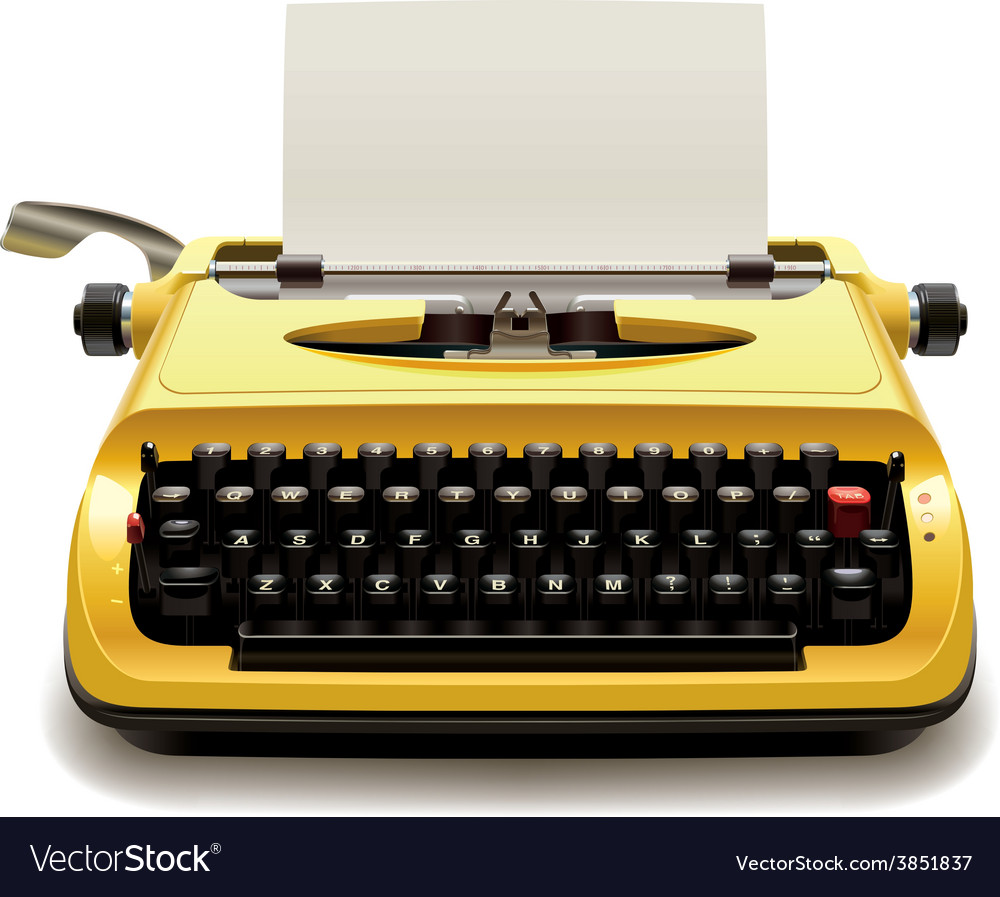 old typewriter royalty free vector image vectorstock