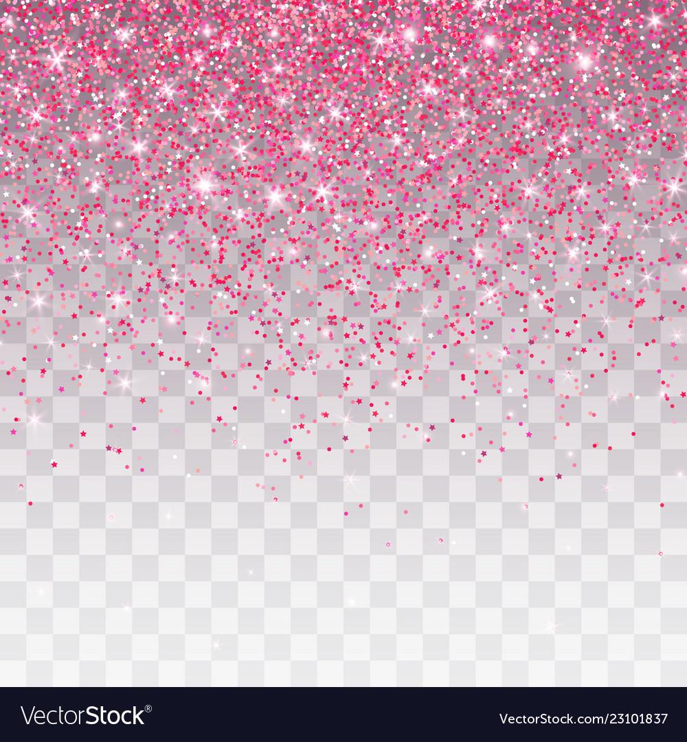 pink glitter sparkle on a transparent background vector image