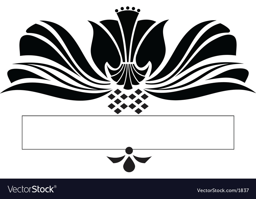 Scroll design vector image