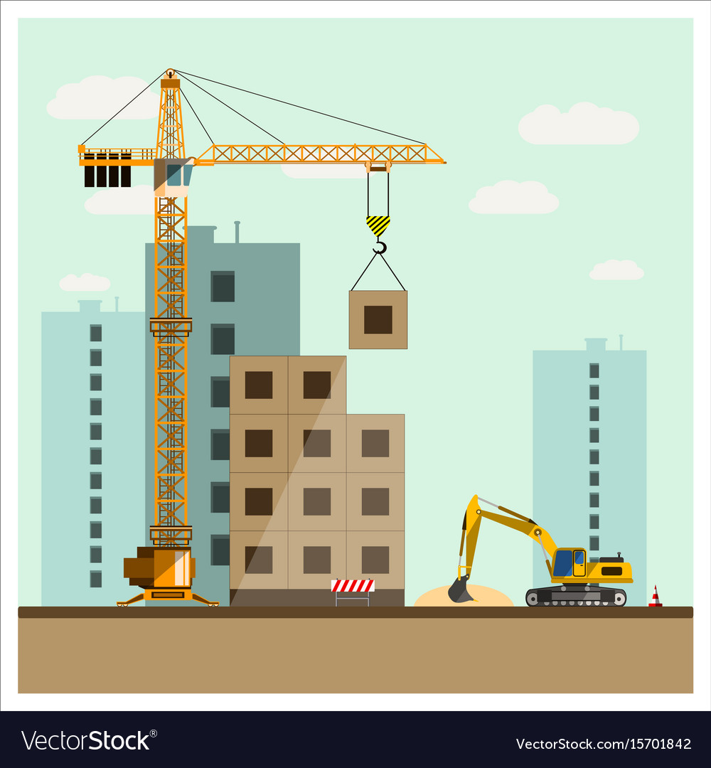 Construction site with equipment