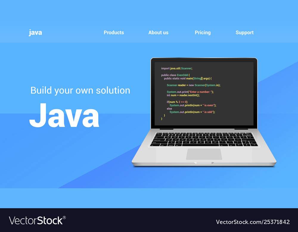 Java programming code technology banner java