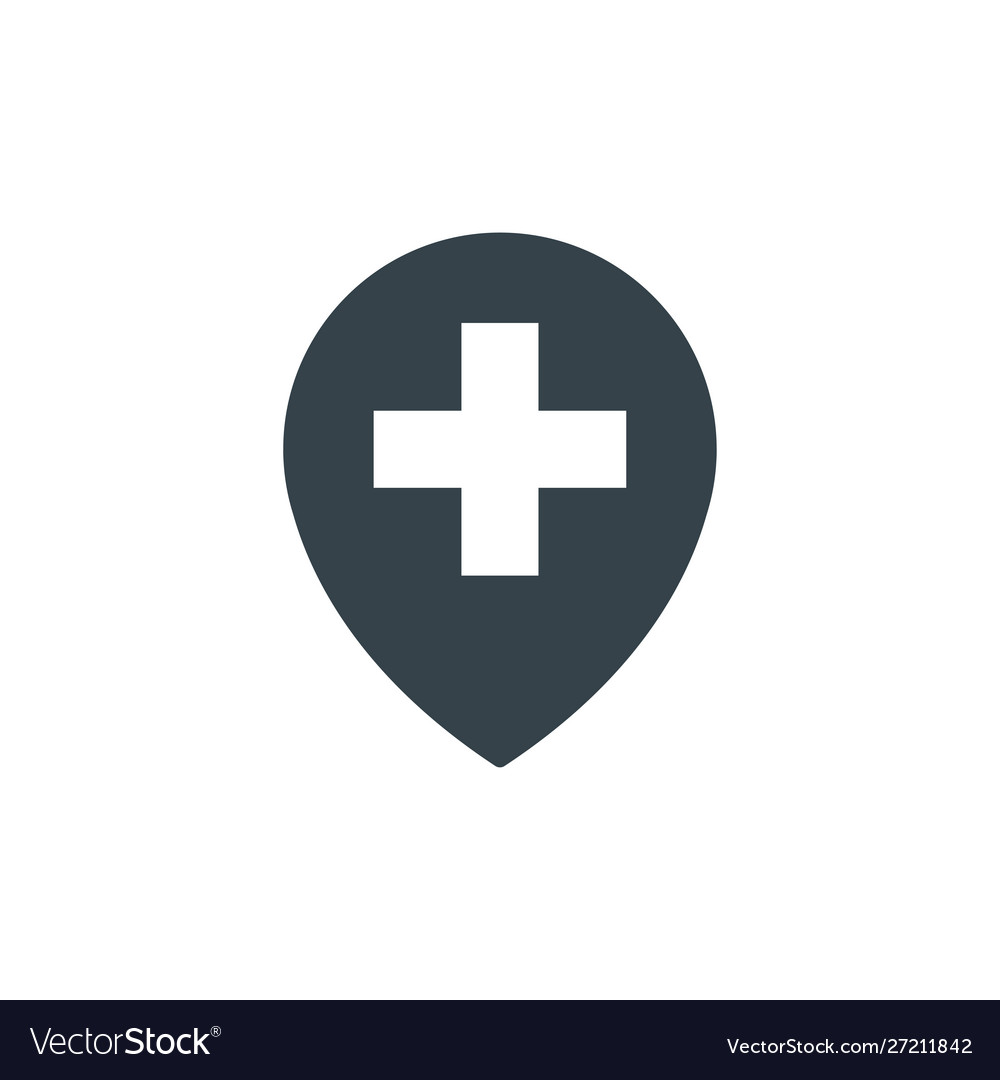 Medical location concept logotype template design