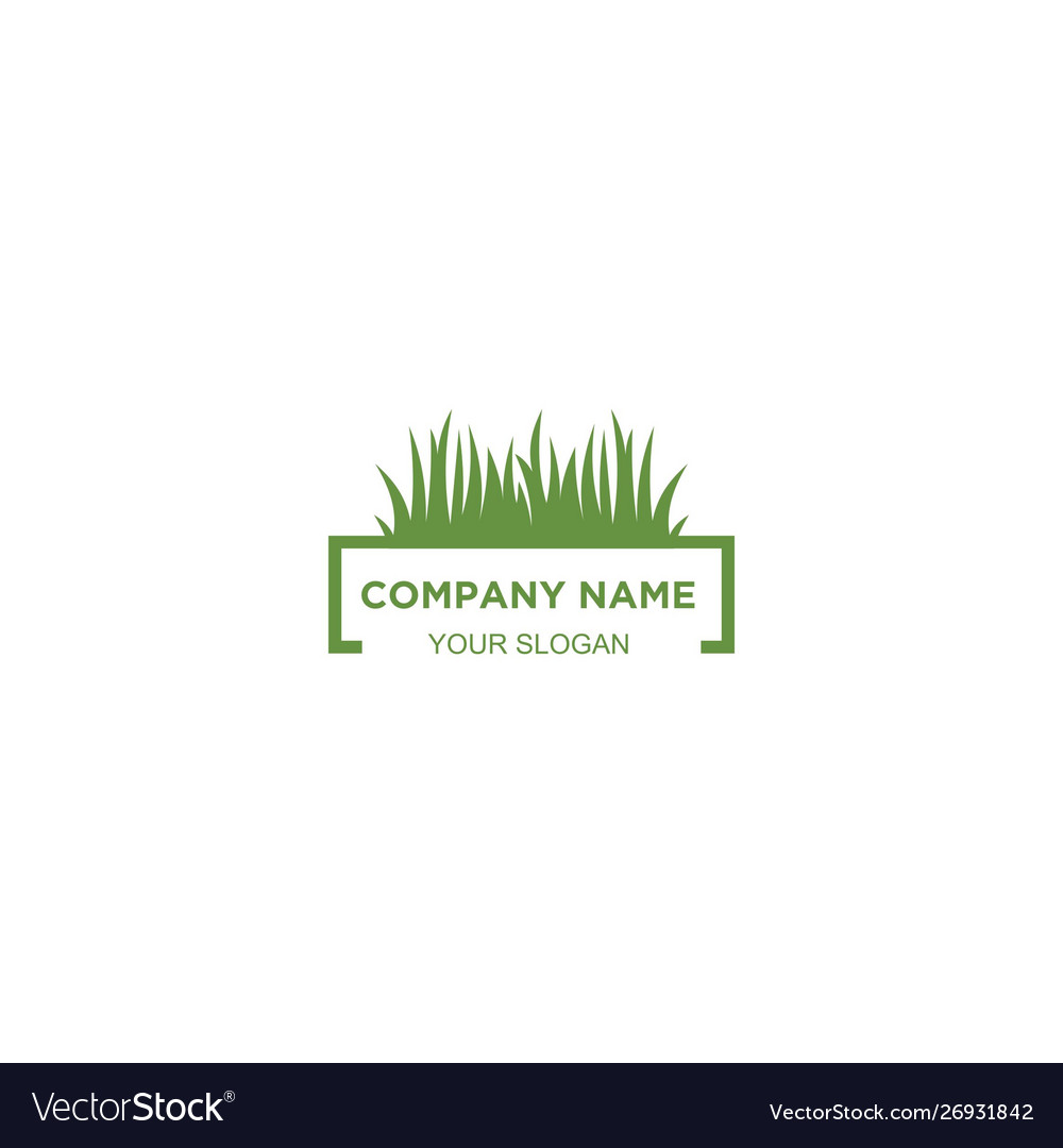 Simple Lawn Care Logo Design Royalty Free Vector Image