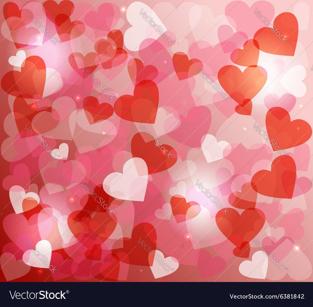 Valentines day love heart shape love bokeh