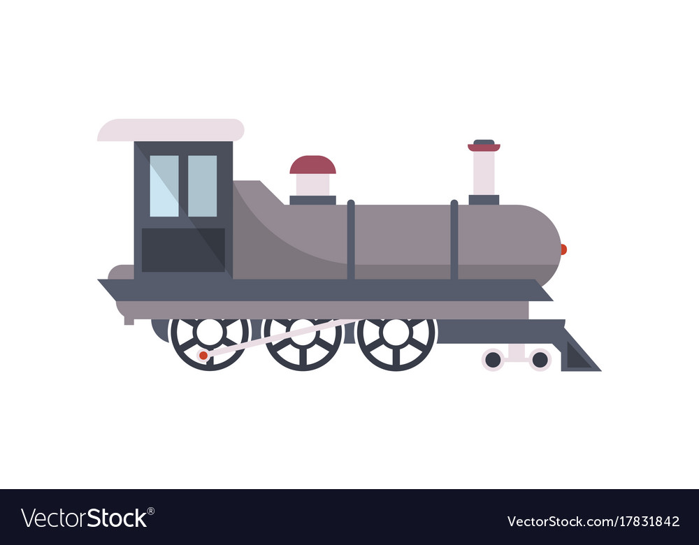 Vintage railway train isolated icon
