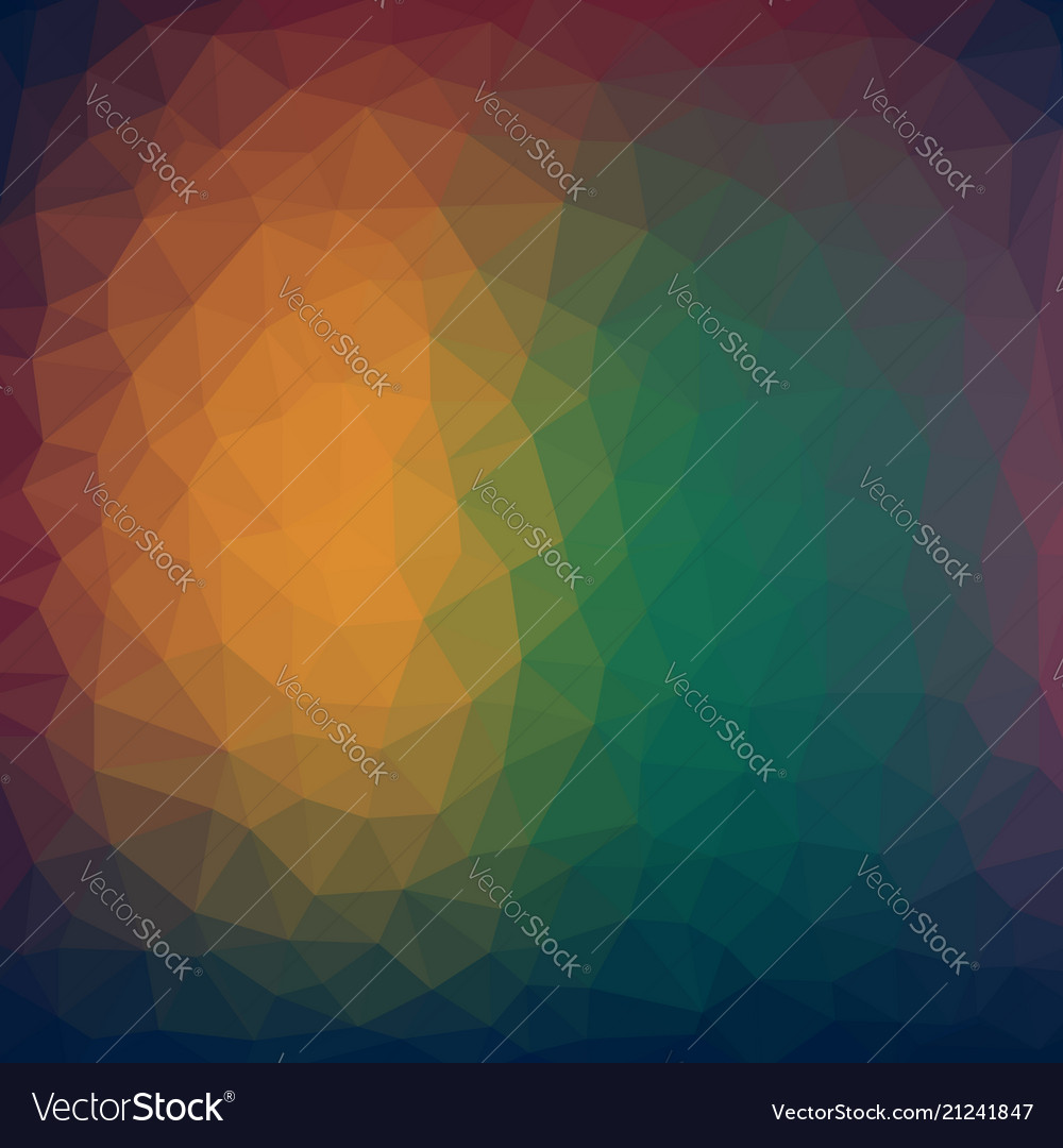 Abstract colorful low poly background with warm