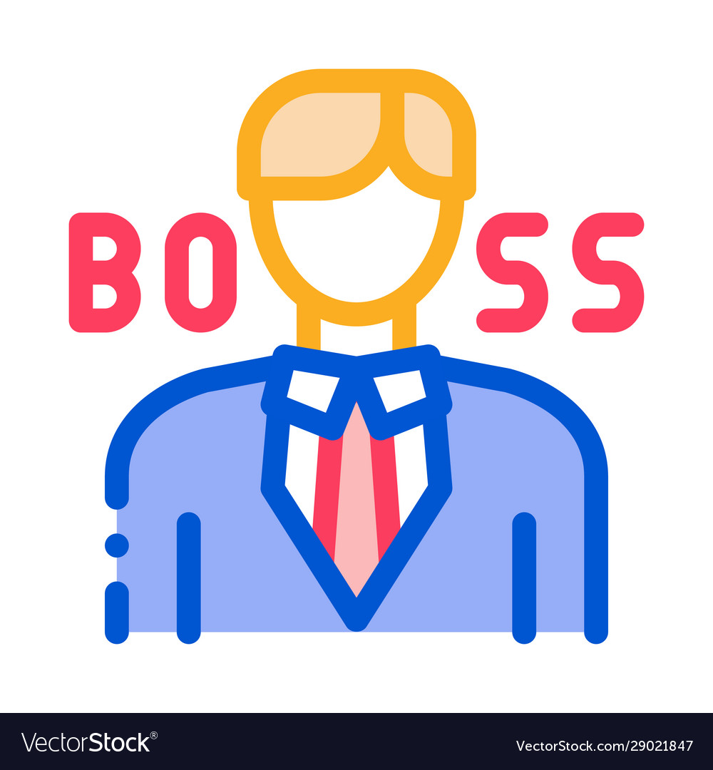 Boss silhouette icon outline