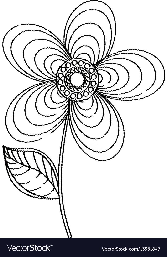 Geranium flower decoration sketch