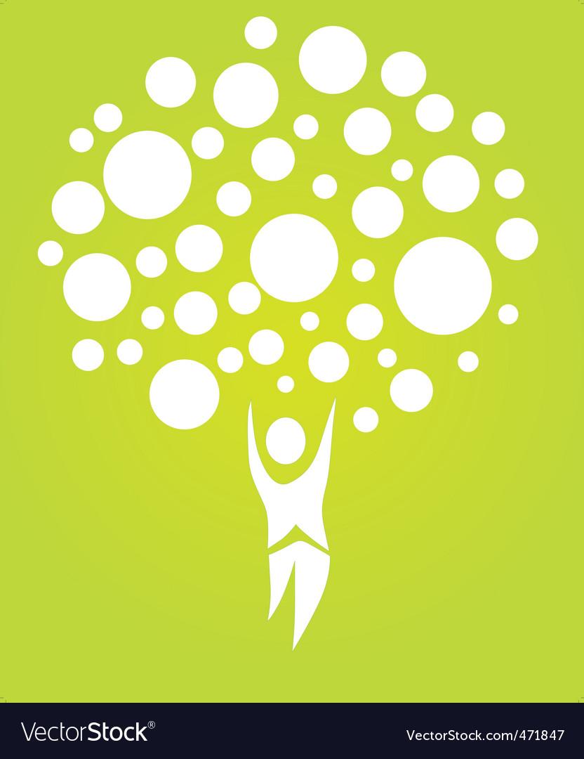 Human tree vector image