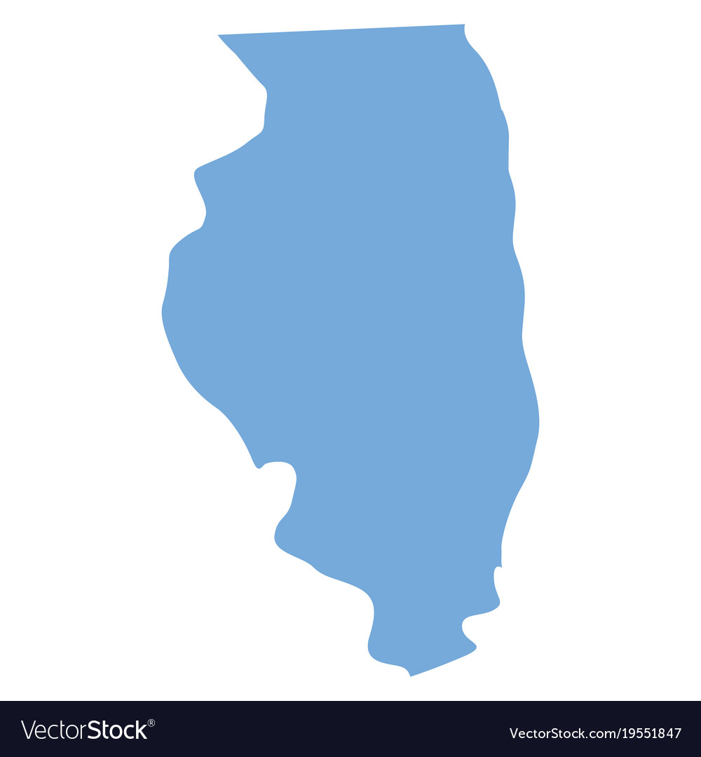 Illinois state map Royalty Free Vector Image - VectorStock